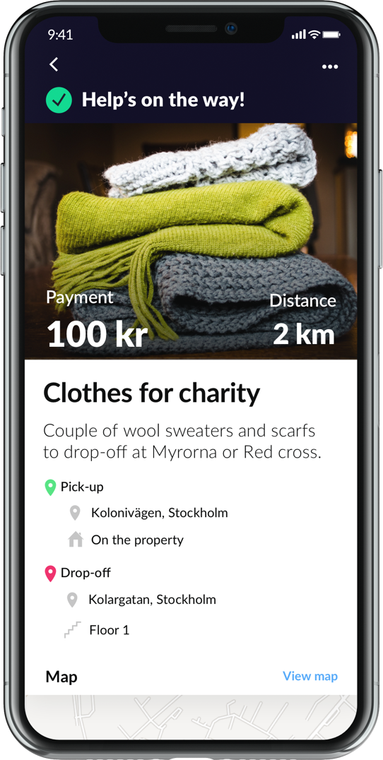 image for charity ad in tiptapp app